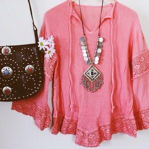 Jen's Pirate Booty Pink Gauze Tunic